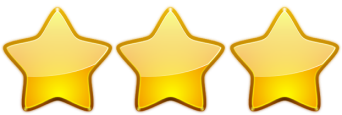 3 stae rating Oh My Blog